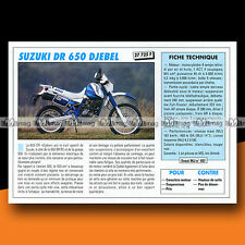 ★ SUZUKI DR 650 DJEBEL ★ 1991 Essai Moto / Original Road Test #c768