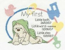 Cross Stitch Kit - DMC - Lickle Ted - Precious Lickle Moments Birth Sampler