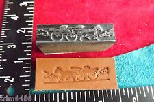 LEATHER TOOLS/** VINTAGE ** PRESS TYPE HORSE & BUGGY STAMP **  (SK 158)