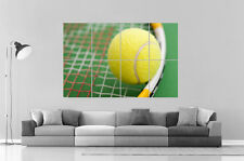 Tennis racket Poster Grand format A0 Large Print