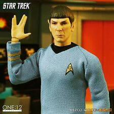 "Mezco Toyz One:12 Star Trek Spock Leonard Nimoy 1/12 Scale 6"" Figure In Stock"