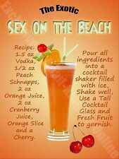 Sex On The Beach Cocktail Recipe, Cafe Pub Hotel, Wine Bar Novelty Fridge Magnet