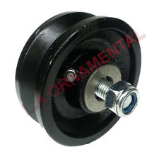 "4"" Cast Iron V Groove Wheel Roller Bearing Grease Fitting Rolling Sliding Gates"
