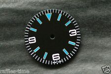Plain Explorer Watch Dial for DG 2813 Movement Blue lume Markers