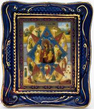 Orthodox Gzhel porcelain decal Icon Our Lady of Burning bush Неопалимая Купина