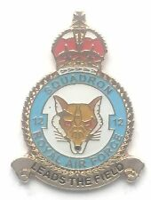 RAF No 12 Squadron Royal Air Force Kings Crown Pin Badge *Official Licensed*