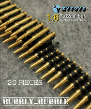 1/6 Scale 7.62 Caliber 20PCS Metal Machine Bullet Chain SHIP FROM USA