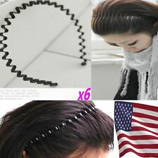 6 pcs Lots Set Men Women Unisex Metal Sport Soccer Headband Hairband-USA Fast sh