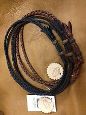 USA HAT BAND HAND BRAIDED DEERSKIN LEATHER LOOP STYLE WESTERN HATBAND HORSE
