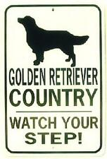 GOLDEN RETRIEVER CO Watch Your Step  12X18 Aluminum Dog Sign Won't rust or fade