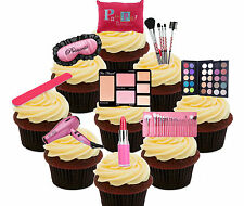 Pamper Princess Party Pack, 36 Edible Cupcake Toppers, Stand-Up Wafer Card, Girl