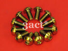 12pcs Gold M5 x 10mm Titanium/Ti Bolt fit Hayes, Avid, Shimano Disc Brake Rotor