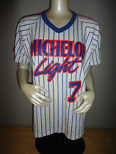 Vintage 80s MICHELOB LIGHT Beer NEW YORK METS Style RAWLINGS Baseball Jersey
