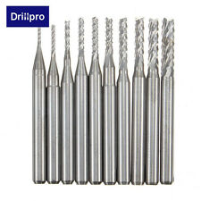 10pcs 0.8-3mm PCB Drill Bits Engraving Milling Cutter for CNC Rotary Burrs