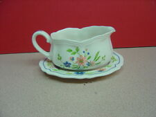 Sears China COUNTRY FRENCH Gravy Boat and Under Plate