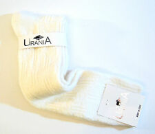 Urania Italy Ladies Knee Socks Angora Blend Tri Cross Weave Ivory - NEW