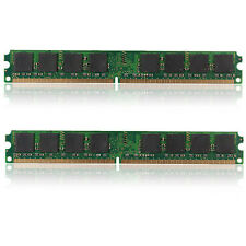 2GB (2x1GB) PC2-6400U DDR2 240Pins 800MHz Computer Desktop PC DIMM Memory RAM