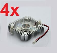 4 PCS 55mm 2PIN Aluminum Snowhite Cooling Fan Heatsink Cooler  VGA CPU FS006 B7