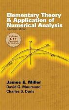 Elementary Theory and Application of Numerical Analysis: Revised Edition (Dover