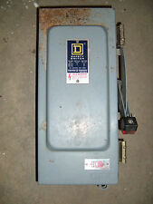 USED Square D HU361A Non-Fusible Safety Switch Disconnect 30 Amps 600VAC/DC