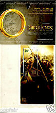 LORD OF THE RINGS RETURN OF THE KING 6 COMPLETE MINIATURE SHEETS 05 NOVEMBE 2003