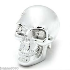 NEMESIS NOW CHROME SKULL SILVER ORNAMENT GOTHIC HALLOWEEN  FIGURINE 10CM
