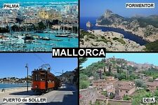 SOUVENIR FRIDGE MAGNET of MALLORCA SPAIN PALMA SOLLER DEIA