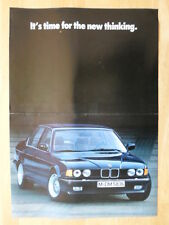 BMW 7 Series orig 1986 UK Market large format Launch intro brochure - E32