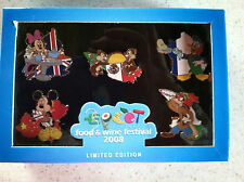 Disney WDW/ EPCOT® Intern'l Food and Wine Festival 2008- Boxed 5 Pin Set LE 500
