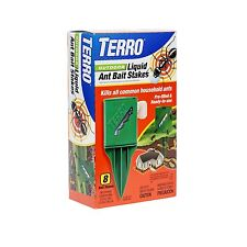 Terro OUTDOOR LIQUID ANT BAIT STAKES Kills All Common Household Ants PRE-FILLED