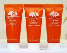 Origins Ginzing Energy Boosting Moisturiser - NEW - 45ml  ( 3 x 15ml  tubes)