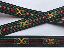 Traumschöne Borte,Indianer,Schwarz,Rot,Grün,Gelb,20mm,5 Meter !