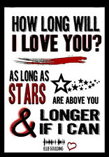 -A3- HOW LONG WILL I LOVE YOU LYRICS Wall - Song  Music Art Poster - #11