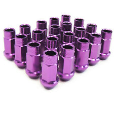 M12 X1.5mm Aluminum Wheel Lug Nuts Open End IS250 GS350 LS400 ES300 Purple