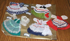 VINTAGE DOLL CLOTHING UNUSED TRADITIONAL COSTUMES/IRELAND,GERMANY,HOLLAND,FRANCE