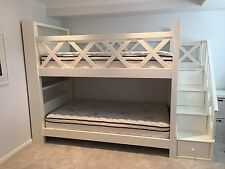 White King Single Bunk Bed with Storage and Book Shelves