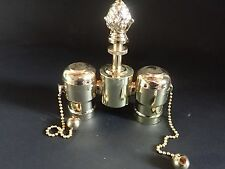 Lamp Top Repair Part Polished Brass Finish With Sockets Holder 2 lite Table