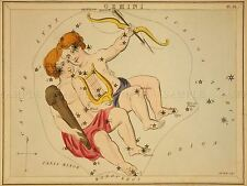 PAINTINGS DRAWING STAR MAP GEMINI TWINS CONSTELLATION ART POSTER PRINT LV3133