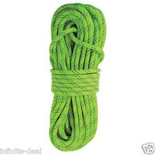 "New England KMIII 1/2"" x 150' Static Climbing Rescue Caving Rope Polyester Green"