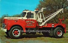 Old Photo.  International Tow Truck - Red/White