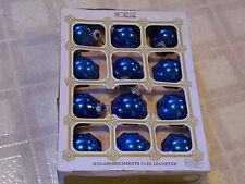 Vintage 1970's  Noelle Mercury Glass Christmas Ornament Balls ~  Set of 12
