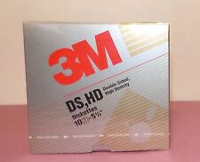 "3M 5 1/4"" 5.25"" HIGH DENSITY DS, HD FLOPPY DISK 10 PACK NEW for IBM COMPUTER"