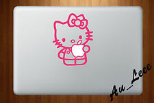 Macbook Air Pro Vinyl Skin Sticker Decal - Hello Kitty Cute Pink #MAC074