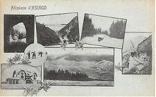 9359) ALTI PIANO D'ASIAGO (VICENZA) 6 VEDUTINE STAZIONE E FERROVIE CON TRENI.