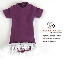 ☆╮Cool Cat╭☆137.【NS-L02】Blythe Pullip Long Top With Lace # Dark Violet