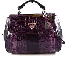 NEW Guess Designer Large Bay View Plum Satchel Shoulder Bag