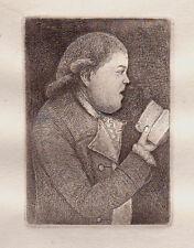 John Kay Original Antigua Grabado. mr. John Campbell, precentor, 1805