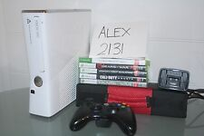 Xbox 360 S White Gloss Bundle 32 games 320 gb Aussie Seller