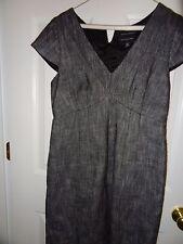 Banana Republic Black Tweed Italian Fabric Career Dress Business Size 12P