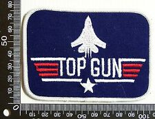 VINTAGE TOP GUN AIR FORCE EMBROIDERED SOUVENIR PATCH WOVEN CLOTH SEW-ON BADGE